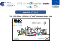 Mission to the EMO 2021 trade fair from 4 to 9 October