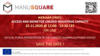 Official launch of the MANU-SAQUARE platform Capacity Sharing service