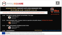 Official launch of the MANU-SQUARE platform IDEA MANAGER SERVICE