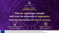 The 1st call for proposals of the GALACTICA project closed on the 19th May having received 84 proposals involving 138 SMEs. 12 Portuguese companies submited proposals!