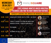 """Webinar """"Monetize unused Industrial resources and find the right Innovation partners"""" - 28 April"""