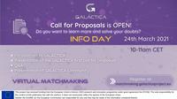 No passado dia 24 de Março decorreu o Info Day da 1ª call for proposals do projeto GALACTICA em simultâneo com o 1º evento de Matchmaking!